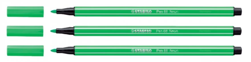 , Viltstift STABILO Pen 68/033 neon groen