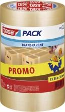 , Verpakkingstape Tesa 57008 50mmx66m transparant promopack