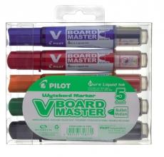 , Viltstift PILOT Begreen whiteboard rond assorti 2.3mm 5stuks