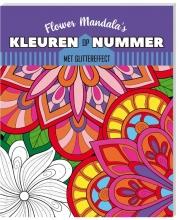 , Kleurboek Interstat kleuren op nummer Flower Mandala`s