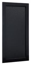 , Krijtbord Securit wand 20x40cm zwart hout