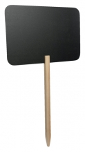 , Krijtbord Securit rechthoek 73x45cm met houten pin