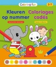 ZNU , Coloring Fun Kleuren op nummer (5-7 j.) Coloriages codés (5-7 a.)