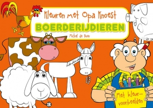 , Kleuren met Opa Knoest - Boerderijdieren - 5 ex.