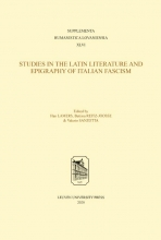 , Studies in the Latin Literature and Epigraphy in Italian Fascism