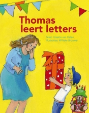 Gisette van Dalen Thomas leert letters