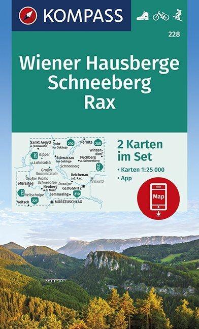 ,Wiener Hausberge, Schneeberg, Rax 1:25 000