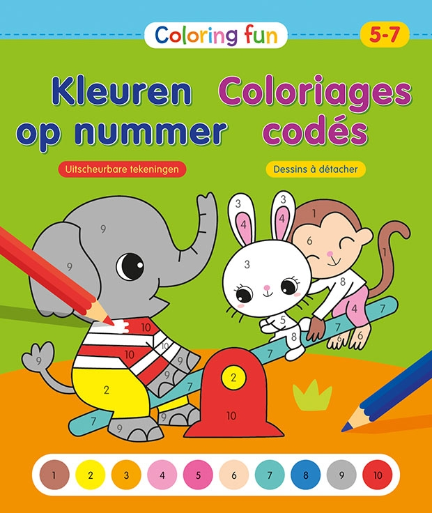 ZNU,Coloring Fun Kleuren op nummer (5-7 j.) Coloriages codés (5-7 a.)