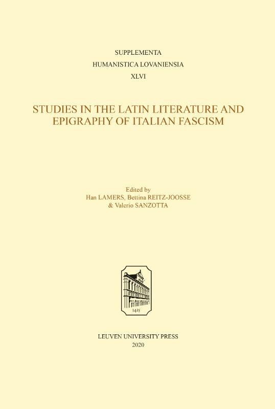 ,Studies in the Latin Literature and Epigraphy in Italian Fascism
