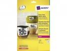 ,weerbestendig etiket Avery 45,7x21,2mm 20 vel 48 etiketten  per vel