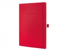 ,notitieboek Sigel Conceptum Pure softcover A4 rood geruit