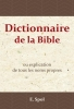 <b>E.  Spol</b>,Dictionnaire de la Bible