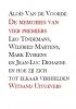 Alois Van de Voorde ,De memoires van vier premiers