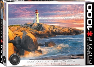 Eur-6000-5437 , Puzzel  peggy`s cove lighthouse - nova scotia- 1000 stuks