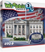 W3d-1007 , Puzzel 3d the white house wrebbit 490 stuks
