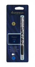 , Vulpen Waterman Allure camouflage F blauw + inktpatronen blauw