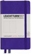 Lt346683 , Leuchtturm pocket notitieboek 90x150 dots/puntjes purple