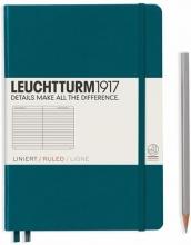 Lt359692 , Leuchtturm notitieboek medium 145x210 lijn pacific blauwgroen