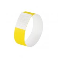 , evenementenbandjes Sigel super soft, 255x25mm 120 stuks     neon geel