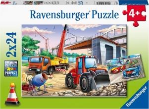 Rav-051571 , Puzzel bouwplaats en wedstrijd ravensburger  2x 24 stuks