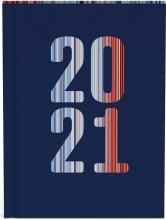 , Agenda 2021 10x15 blauw met streepdesign