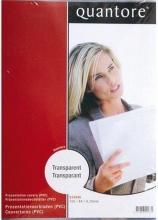 , Voorblad Quantore A4 PVC 200 micron transparant 100stuks