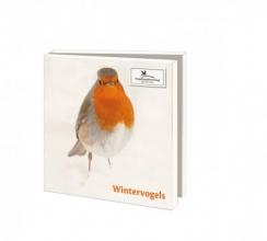 Wmc1006 , Kerstkaart mapje 10 stuks met env vogelbescherming wintervogelsq