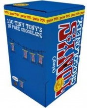 , Chocolade Tiny Tony`s Chocolonely 100 stuks puur