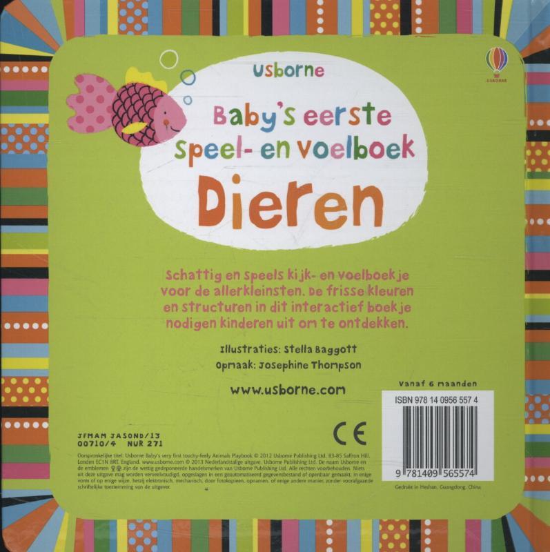 STELLA BAGOTT,BABY`S EERSTE SPEEL-EN VOELBOEK - DIEREN