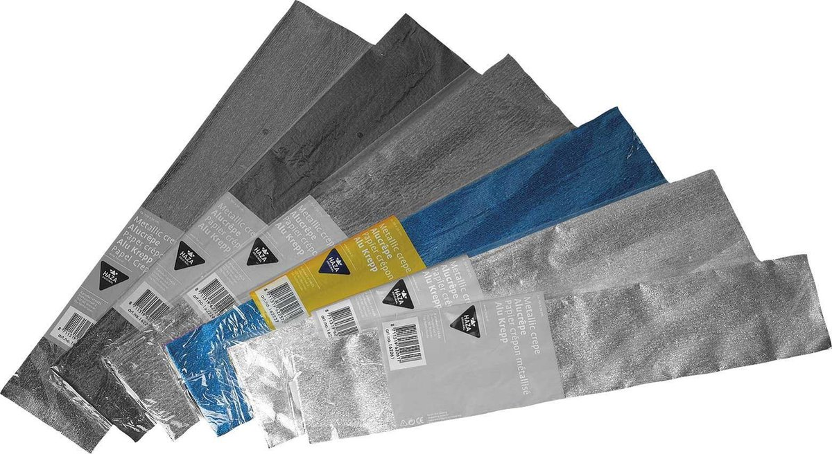 ,Alu-crepe poly 150x50 blauw