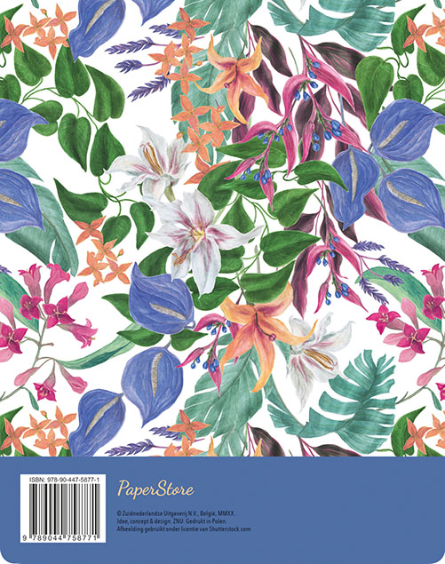 ZNU,Menuplanner - Tropical Flowers