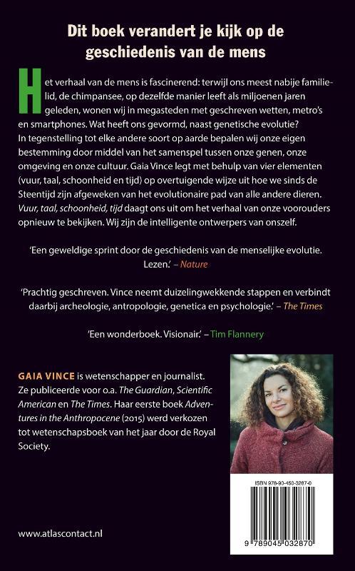 Gaia Vince,Vuur, taal, schoonheid, tijd