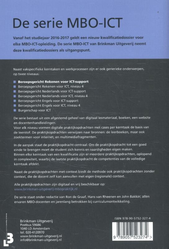 Ron de Graaf, Hans van Rheenen,Beroepsgericht rekenen voor ICT support