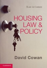 Cowan, David Housing Law and Policy
