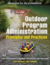 Education, Association of Outdoor Recreation and Outdoor Program Administration