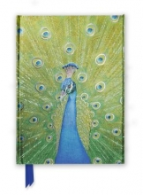 Peacock in Blue & Green Foiled Journal
