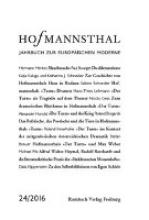 Hofmannsthal Jahrbuch zur Europäischen Moderne