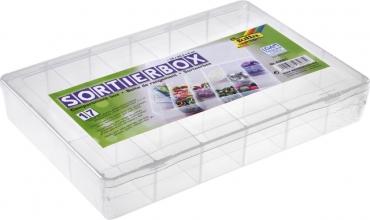 , Sorteerbox Folia 17 vakken 180x265x40mm transparant