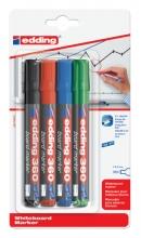 , Viltstift edding 360 whiteboard rond assorti 3mm blister à 4
