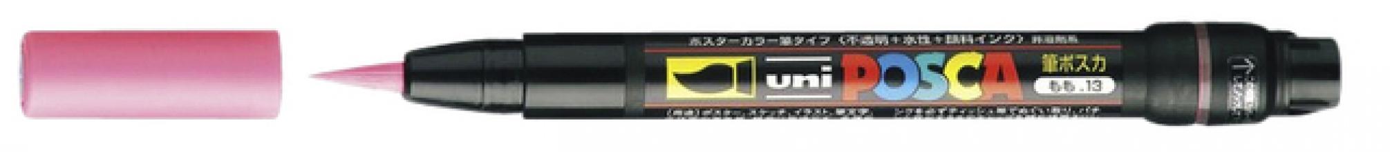 , Brushverfstift Posca PCF350 rood