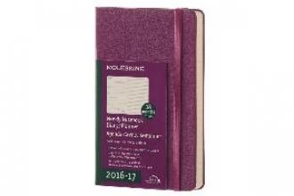 MOLESKINE WOCHEN NOTIZKALENDER 2016/2017 RECHTS LINIERTE SEITE, P/A6, HARD COVER, WEINROT
