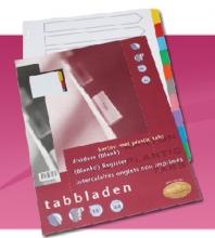 , Tabbladen Multo A4 23-gaats 10-delig wit karton 220gr