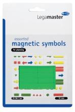 , Magneet Legamaster symbolen 10mm groen assorti