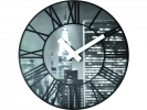 ,wandklok NeXtime dia. 39 cm plastic `The City`