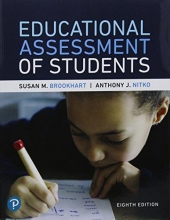 Brookhart, Susan M.,   Nitko, Anthony J. Educational Assessment of Students + MyLab Education With Pearson Etext Access Code