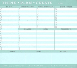 Think Plan Create Mousepad - Note Pad