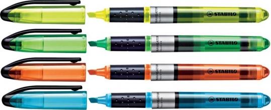 , Markeerstift STABILO Navigator 545 etui à 4 kleuren