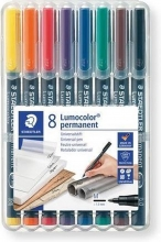 , Viltstift Staedtler Lumocolor 317 permanent M set à 8 stuks