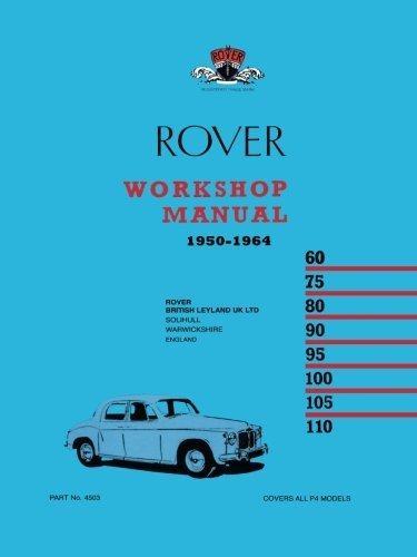 ,Rover P4 Workshop Manual 1950-1964