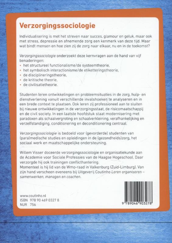 Willem Visser,Verzorgingssociologie